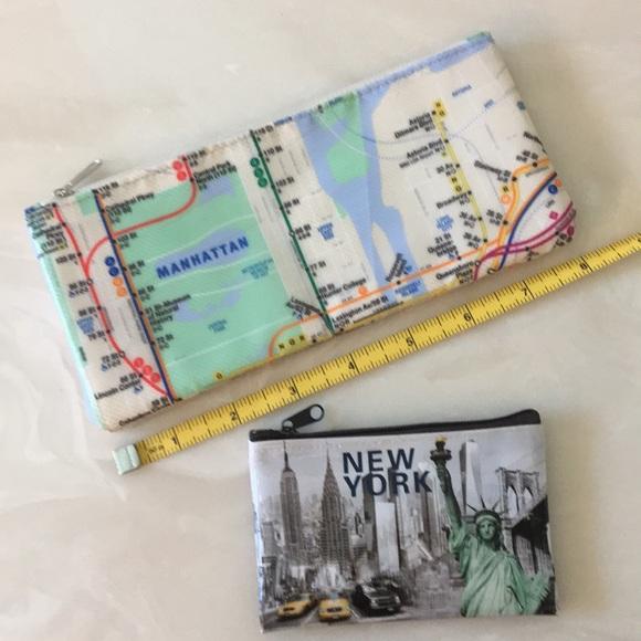 Nyc Subway Map Zippered Wallet.Nycta Pencil Makeup Case New York Coin Pure Nwot